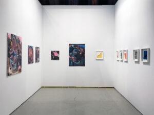Art Los Angeles Contemporary 2019 | ALAC Art Fair | Philip Grözinger, Jacob Jessen. Marie Kirkegaard Gallery, installation view | The Barker Hangar, Santa Monica