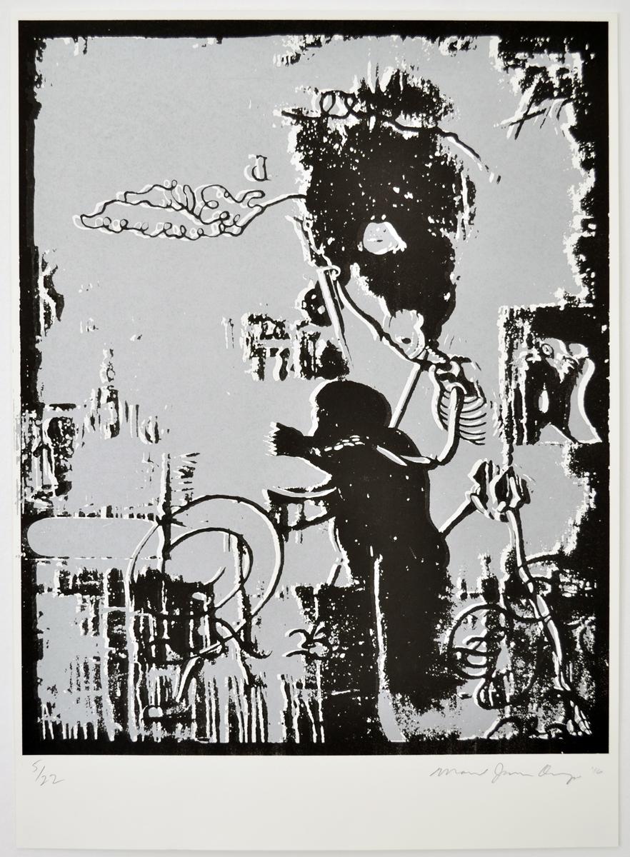1 Manuel Ocampo, Untitled, 2016. Silkscreen, ed. 22, 64 x 46 cm