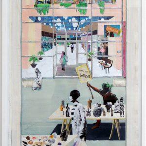Mette Vangsgaard | Sell Out, 2012. Painting / drawing / collage, mixed media. Marie Kirkegaard Gallery