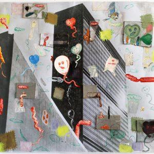 Mette Vangsgaard | The Wind In My Heart, 2019. C-print photo, collage, painting, drawing, gouache, paper. Marie Kirkegaard Gallery