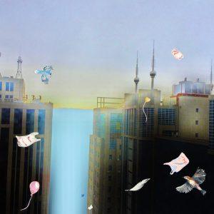 Mette Vangsgaard | Thanks For Nothing, 2019. C-print photo, drawing, painting, gouache, paper. Marie Kirkegaard Gallery