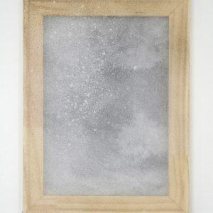 Alessandro Moroder | Untitled (Silk Chiffon #7), 2019. Painting, Enamel and dirt on silk chiffon. Marie Kirkegaard Gallery