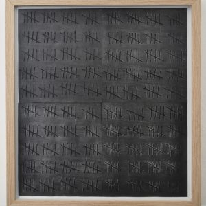 Anna Bak | 400, 2019 Collage, woodcut, graphite dust on paper. Marie Kirkegaard Gallery