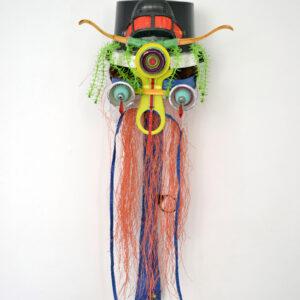 Shinya Ishida | Mask, 2015 | Sculpture, mixed media / waste recycling. Marie Kirkegaard Gallery