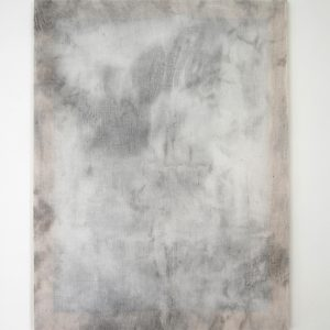 Alessandro Moroder | And There They Seemed. Bathed In Silence. All Alone, 2019. Painting, Enamel and dirt on cheese cloth. Marie Kirkegaard Gallery