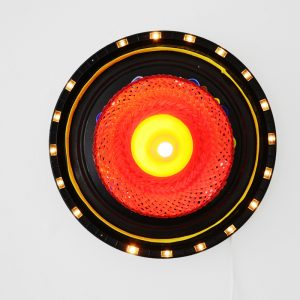 Shinya Ishida | Lamp, 2015. Mixed media / waste recycling. Marie Kirkegaard Gallery