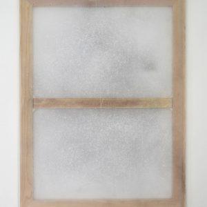Alessandro Moroder | Untitled (Silk Chiffon #5), 2019. Painting, Enamel and dirt on silk chiffon. Marie Kirkegaard Gallery