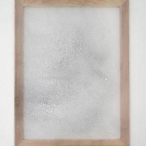 Alessandro Moroder | Untitled (Silk Chiffon #2), 2019. Painting,  Enamel and dirt on silk chiffon. Marie Kirkegaard Gallery