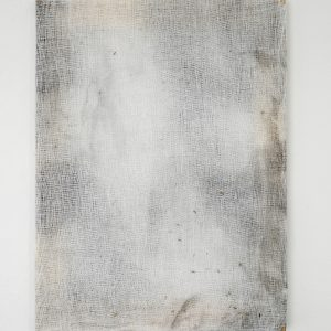 Alessandro Moroder | And There They Seemed. Bathed In Silence. All Alone</em>, 2019. Painting,  Enamel and dirt on cheese cloth. Marie Kirkegaard Gallery