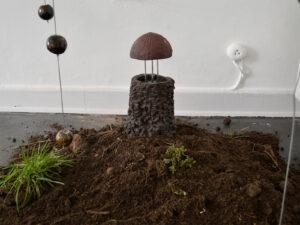 Anders Brinch | Mutant mushroom, 2020. Robot sculpture, mixed media. Marie Kirkegaard Gallery, 2021