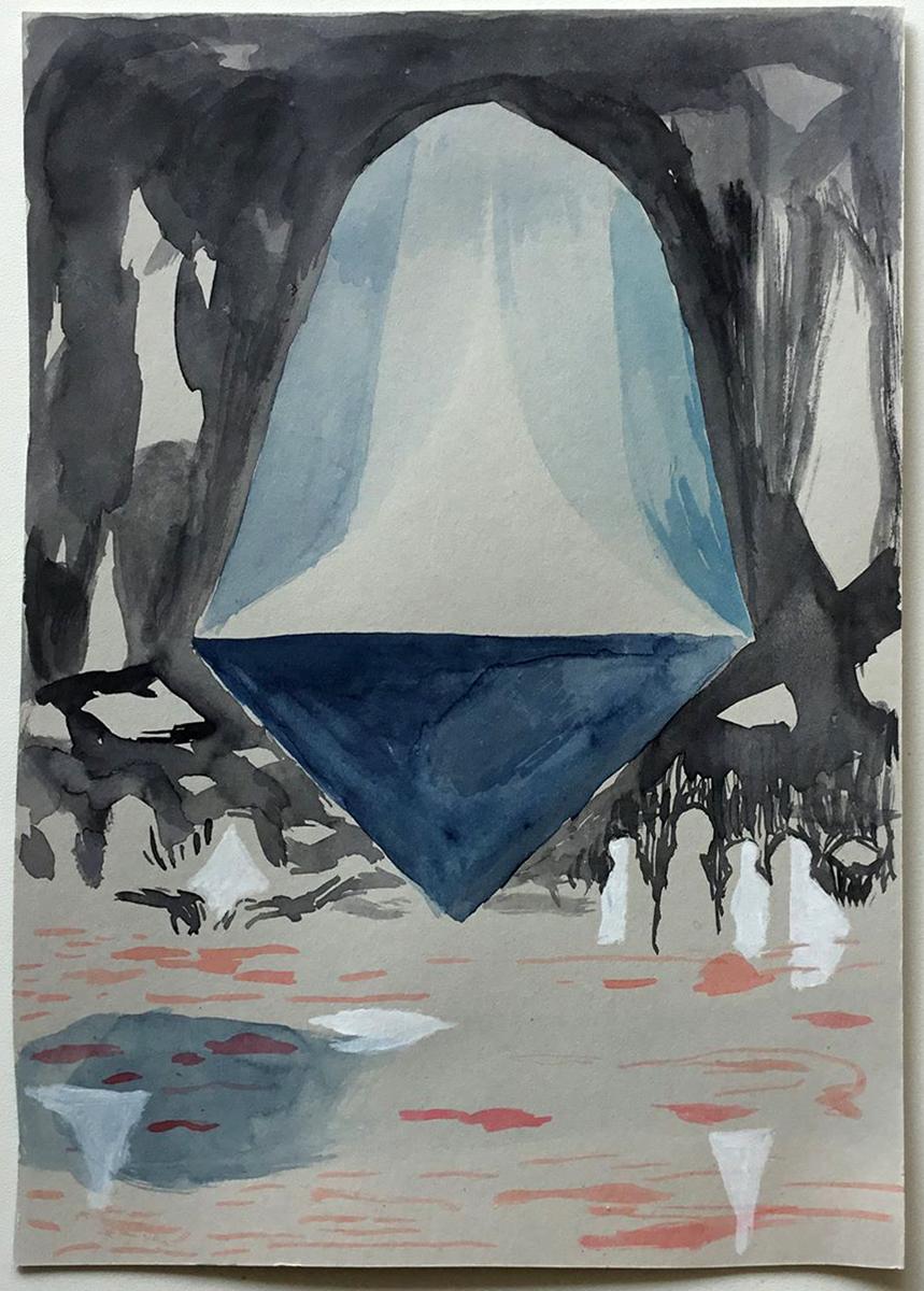 Carl Johan Sennels   I Always Feel Like Shit, 2018. Watercolor on paper, 22,5x16,5 cm