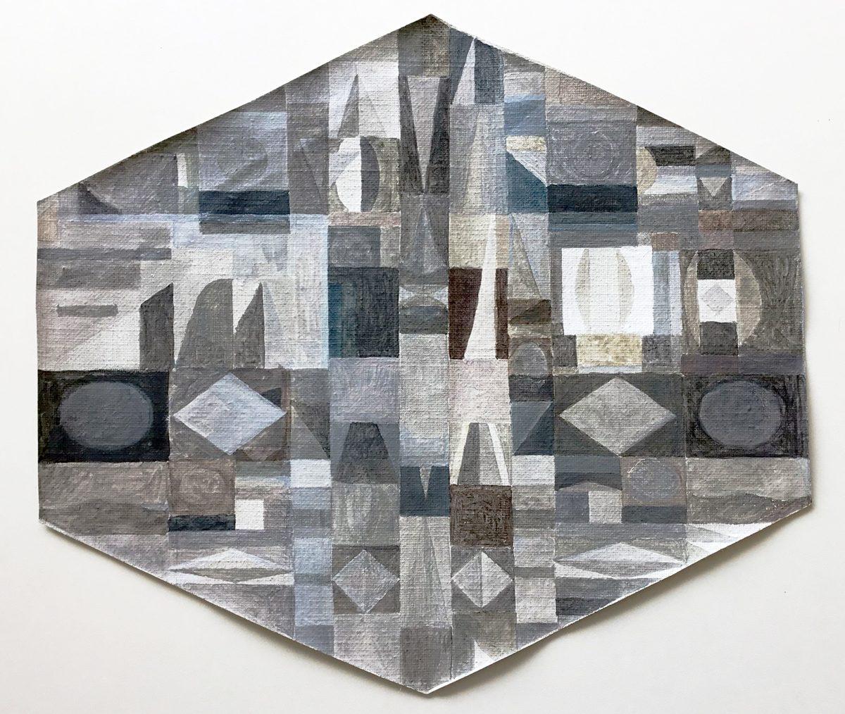 Carl Johan Sennels | Ruminations, 2017. Oil, acrylic, watercolor on canvas, 31x35 cm