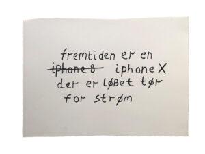 Claus Ejner | Drawing; Fremtiden, 2019. Gouache. Marie Kirkegaard Gallery
