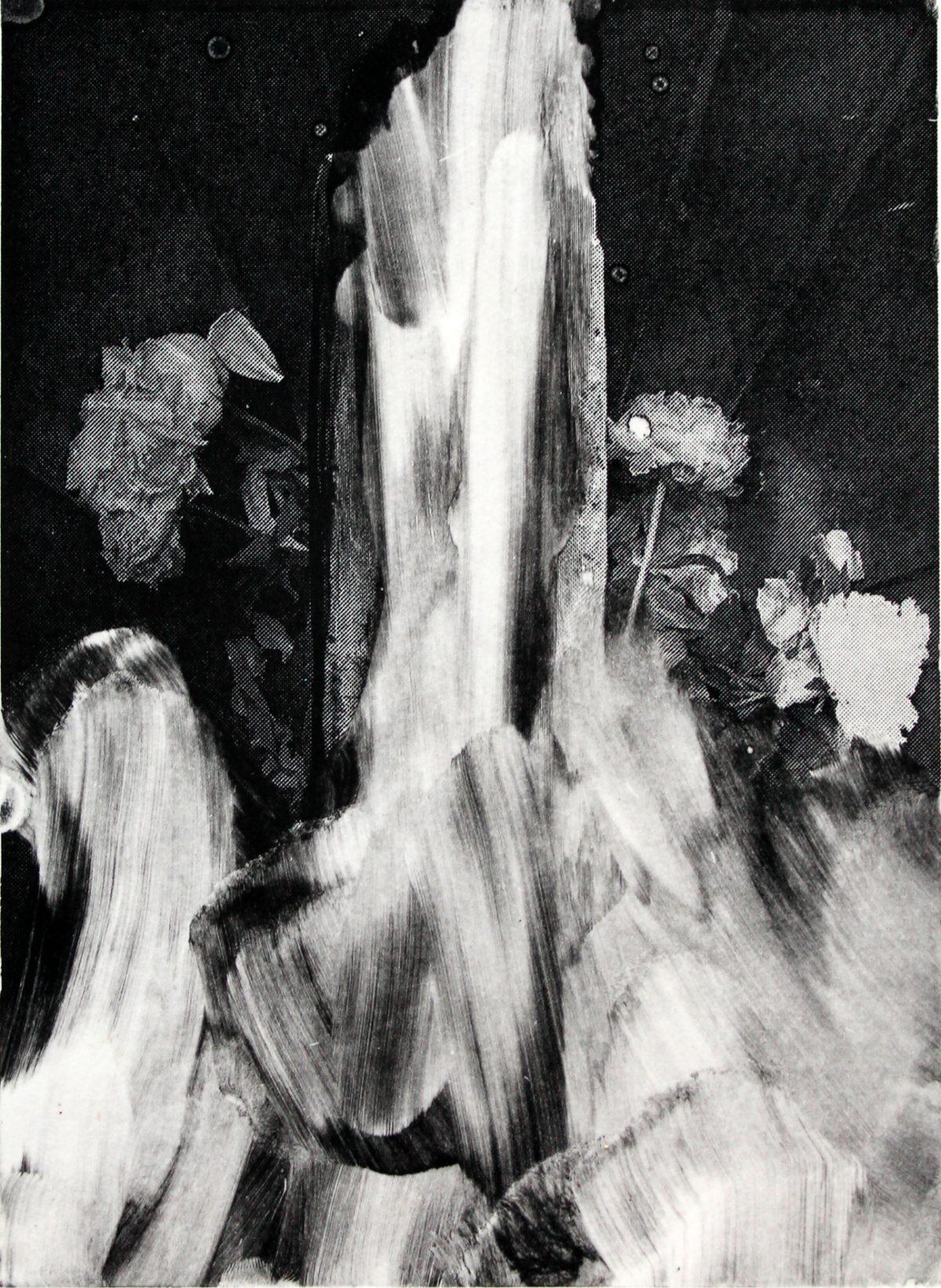 Lars Grenaae | Broken Flowers, 2017. Monotype, 32x26 cm