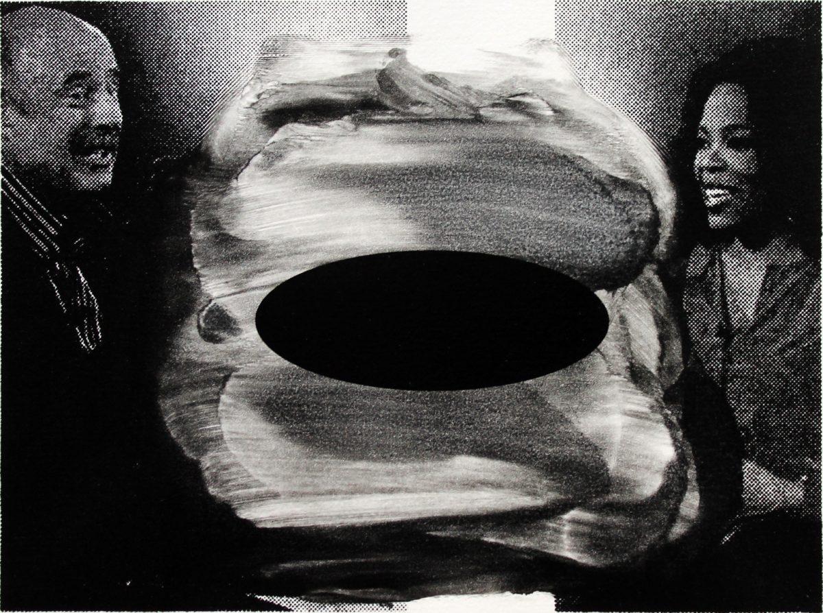 Lars Grenaae | Mansplain, 2019. Monotype, 26x32 cm