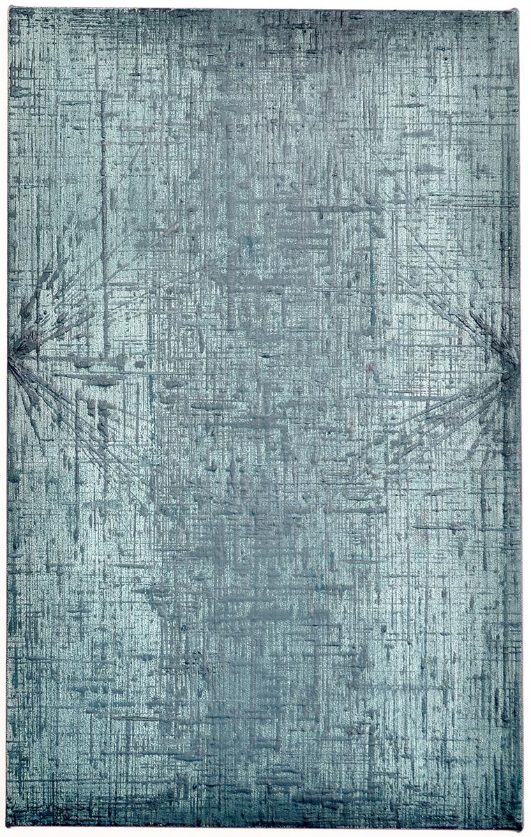 Rieko Hotta, Obelisk Series 05, 2016. Tempera on cotton canvas, 40 x 25 cm