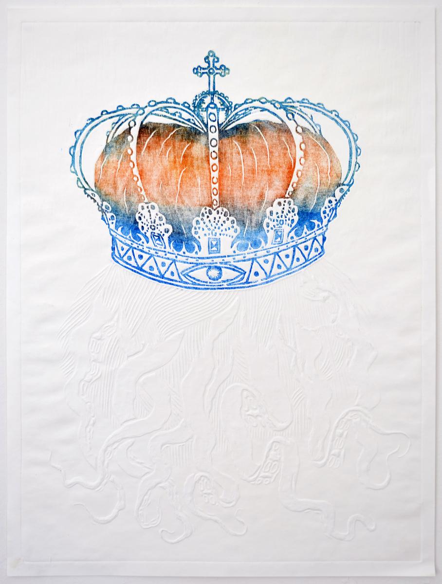 Silas Inoue, Phantom, 2010. Woodcut, 1-1, 76,5 x 58 cm