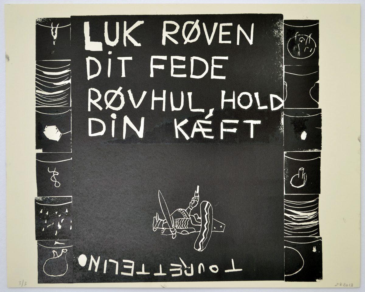 Zven Balslev, Untitled, ed. 3-3, 2014. Linocut, 40 x 50 cm